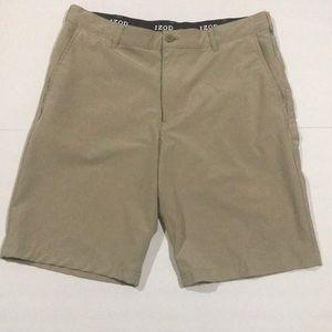 IZOD Golf Shorts Khaki size 36 relaxed stretch EUC